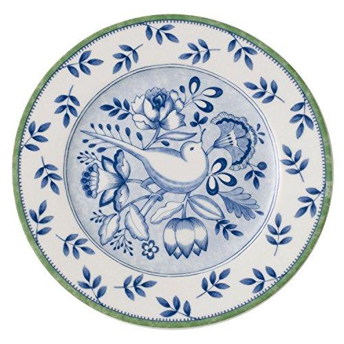 Villeroy & Boch Switch 3 Cordoba Assiette à dessert, 21 cm, Porcelaine, Blanc/Bleu/Vert