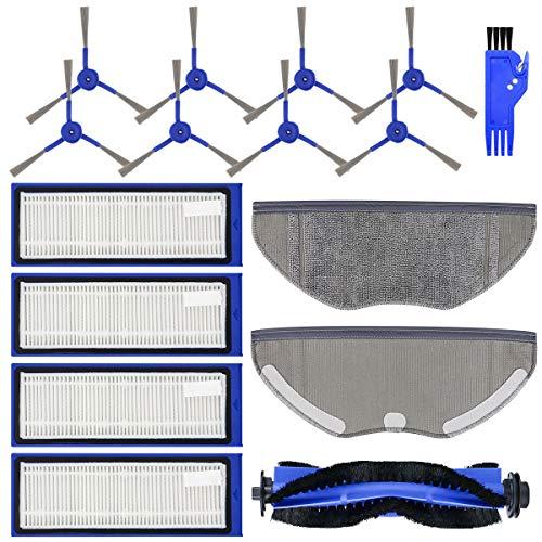 Preisvergleich Produktbild FHzytg 16 Stück Ersatzteile Zubehör Filter Wischmopp Rollbürste Seitenbürsten Set für Eufy RoboVac L70 Hybrid Saugroboter