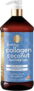 Arganatural Firming Collagen Coconut Shower Gel, Moisturizing Body Wash with Argan Oil (32 Ounces/960 Milliliters)