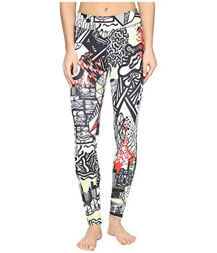 Reebok Damen Trainingshose Yoga Graffiti Collab Tights, Seafoam Green, XL