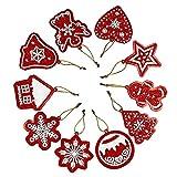 Árbol de Navidad Taladros de Pintura DIY Llaveros Kits Full Rhinestone Decorativo Artes Red Arts Crafts 10pcs Festive House Party Decoration