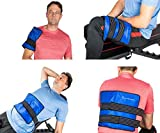 Gel Cold & Hot Pack Large 10x14' Reusable Warm/Ice Pack for Injuries, Hip, Shoulder, Knee, Back, Ankle, Hot & Cold Compress for Swelling, Bruises, Surgery- Includes 2 Compression Strap & Storage Bag