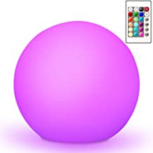 "Mr.Go 10"" Ultra-fun Waterproof RGB Color-changing LED Ball Light Orb Globe Lamp,.."