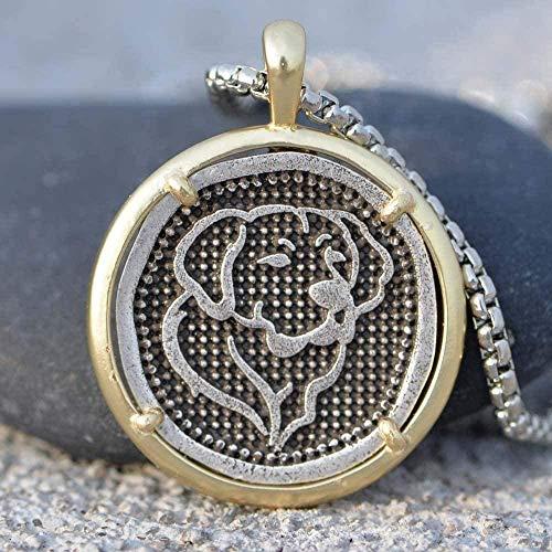 WYDSFWL Collar Golden Retriever Collar Encanto Perro Forma Animal Dorado Metal Dorado Colgante Regalo de la joyería