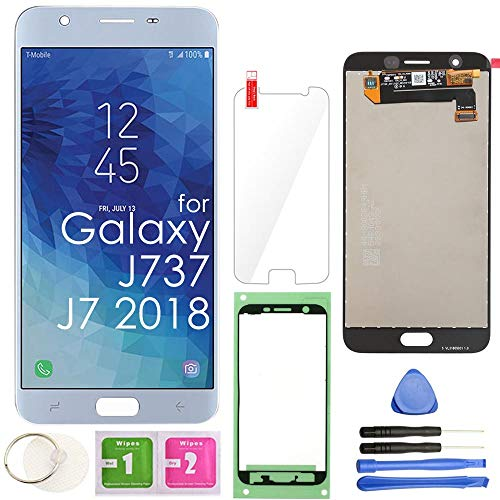 LCD Screen Replacement Touch Display Digitizer Assembly (Blue) for Samsung Galaxy J7 2018 J737 SM-J737 J737A / J7 Refine J737P / J7 Crown S767VL /J7 Aero/ J7 V J737V / J7 Star J737T