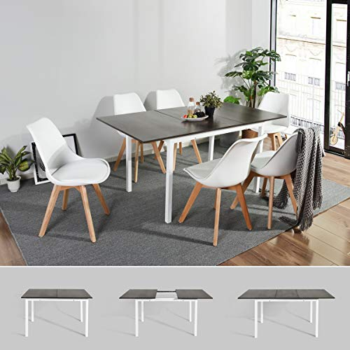 Extendable Dining Table, FurnitureR Amazing Large Multipurpose Kitchen Home Restaurant Table 47.24-62.99 Inch