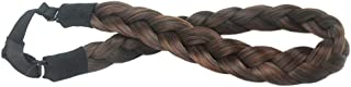 DIGUAN 3 Strands Synthetic Hair Braided Headband Classic Chunky Wide Plaited Braids Elastic Stretch Hairpiece Women Girl Beauty accessory,55g/2oz (Copper Brown)