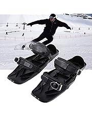 Skidskor för snö kort skidbräda snöblad justerbara snöskor skridskor skor för snö den korta skidbrädan snöblad justerbar skidåkning släde