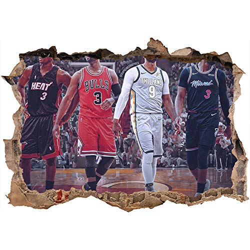 Nensuo 3D York Knicks NBA Basketball Home Decor Art Wall Vinyl PVC Sticker 60 * 90CM-E_80*120CM