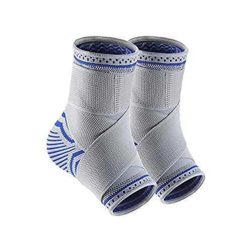 flyingx Knöchelstützende Socken Einstellbares Sprunggelenkbandage, Flexible Fußbandage Fußbandage für Herren und Damen, Kompressionssocken für Sport, Fussball, Fitness