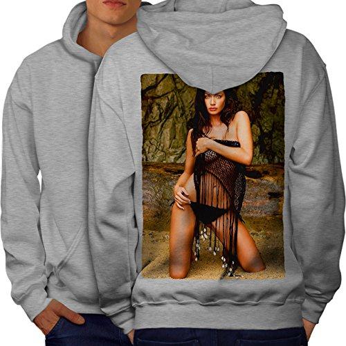 wellcoda Modell Heiß Bikini Sexy Männer Kapuzenpullover Sexy Aufdruck auf Rückseite