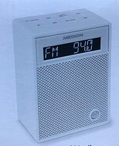 Steckdosenradio Bluetooth Radio UKW 30 Watt Nachtlicht Medion P65702 (Weiss)
