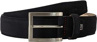Pierre Cardin Men's Leather Belt/Men's Belt, leather belt, dark brown
