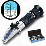 GDMIN Frostschutz Refraktometer, Handrefraktometer für Ethylenglykol, Propylenglykol, Gefrierpunkt von Kühlwasser, Scheibenwasser, Frostschutzmittel AdBlue Batteriesäure