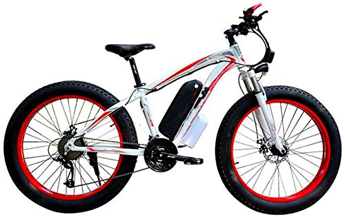 Ebikes, Electric Bicycle Snow, 4.0 fat Tire Electric Bicycle Professional 27 Speed Transmission Gears disc brake 48V15AH lithium battery suitable for 160-190 cm Unisex ZDWN