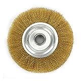 Cepillo de cobre de alambre de latón suave de 5 pulgadas de 125 mm para desbarbar la herramienta giratoria de la rueda de pulido de descalpado BRICOLAJE Piezas de la herramienta eléctrica YUAN CHUANG