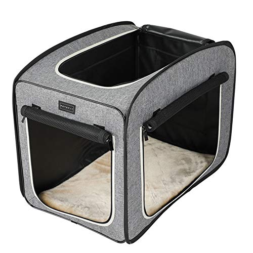 Petsfit tessuto leggero cassa portatile Pet, Pop Up Open Pet Carrier, morbida per cani con pile Mat, cat Play Cube