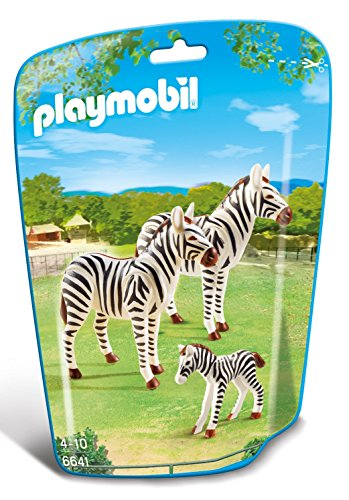 Playmobil-6641 Zoo Familia de cebras, Color (6641)