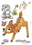 Komar Deco-Sticker'Bambi', 1 Stück, Bunt, 14043h, 0,50 x 0,70 m, Tiere, Reh, Haase, Kinderfilm, Wallsticker, Disney, Wandtattoo