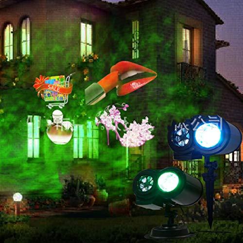 ZBM - ZBM Projektor-LED-Licht, Laser-Licht LED-Projektor-Lampe Weihnachten Halloween Neujahr Ostern Geburtstag LED Projektionslampe 12/16 Motive Mit Wasserwelleneffekt Wasserdicht IP44 Projektor Weihn