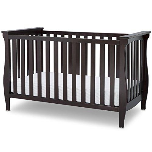 Delta Children Lancaster 3-in-1 Convertible Baby Crib, Dark Chocolate