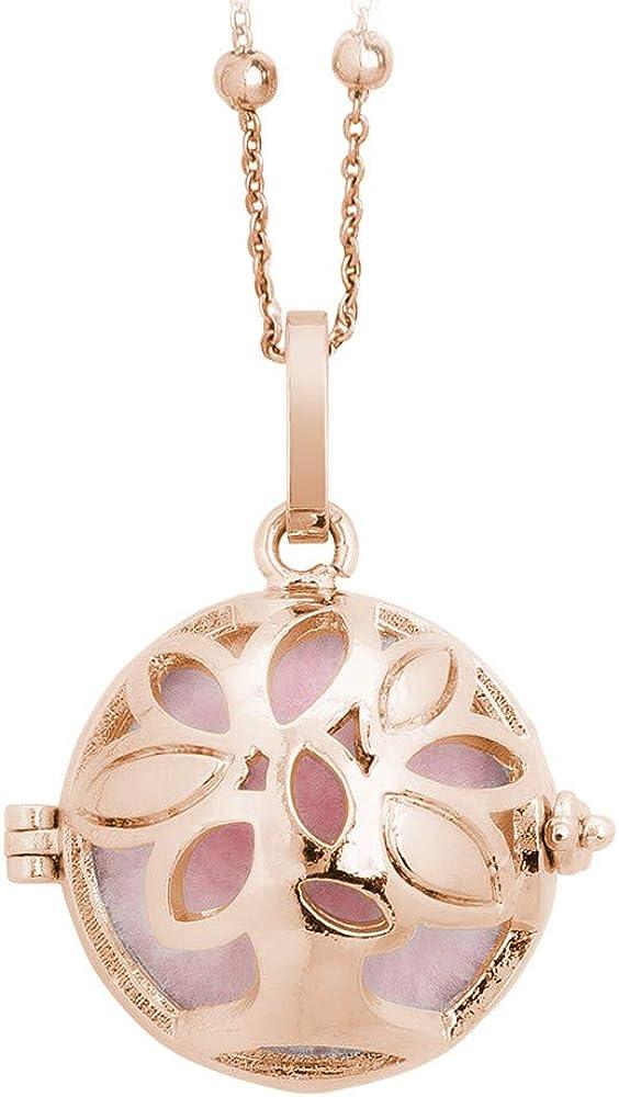 Boccadamo,collana da donna,in bronzo placcata oro rosa,con pendente apribile BT/GR10