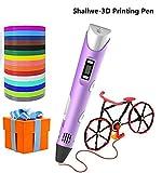 Shallwe 3D Penna Stampa con 15 Colori Diversi PLA Filaments Set, Compatibile con filamenti...