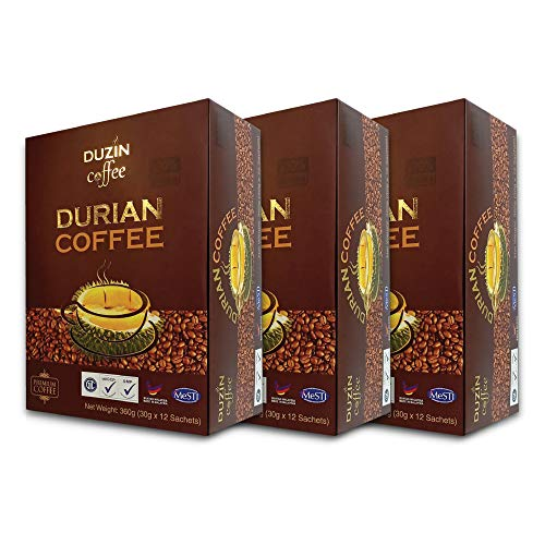3 Boxes Duzin Durian Premium Coffee 12 sachets x 30g - FREE EXPRESS SHIPPING