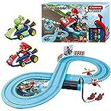 Carrera-1. First Super Mario & Yoshi Circuito de Coches de Miniatura Nintendo Mario Kart de 2,4 m, Escala 1:50, Multicolor (20063026)