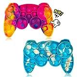 Fidget Toy, 2pcs Bubble Sensory Fidget Toy, Silicona Sensorial Fidget Juguete, Juguetes Antiestres, para Aliviar el Estrés y la Ansiedad Juguetes Educativos para Niños y Adultos (Color)