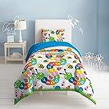 dream FACTORY Alphabet Comforter and Pillow Sham Set, Twin, Grey