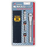 MAGLITE mag-Lite M2A09H Mini AA - Linterna Mini (14,5 cm, Dos Pilas AA, Funda de Nailon), Color Gris