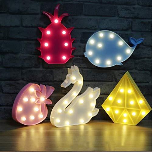 MTX Ltd Créatif Swan Lapin Ours Modelage Animal Lumières Chambre Décoration Mignon Nuit Lumières Enfants Cadeaux de Jour