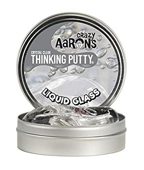 Crazy Aaron s Thinking Putty 4 Inch Tin  3.2 oz  - See-Through Putty Soft Texture - Never Dries Out