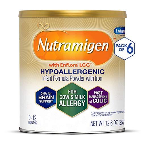 Enfamil Nutramigen Hypoallergenic Colic Baby Formula Lactose free milk Powder, 12.6 Oz (Pack Of 6) -...