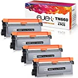 ejet Compatible Toner Cartridge for Brother TN660 TN-660 TN630 (Black,4-Pack) Used in HL-L2340DW HL-L2300D HL-L2380DW MFC-L2700DW L2740DW DCP-L2540DW L2520DW HL-L2320D MFC-L2720DW L2740DW brother printer Oct, 2020