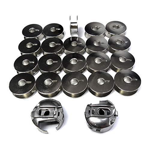 2 Stück 91-105544-91 Spulenkoffer 14 mm + 20 Spulen für Pfaff 1006 2028 6152 ++