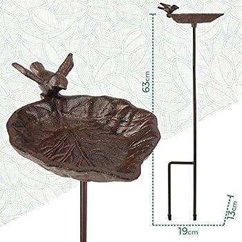 Bain d'Oiseaux - Abreuvoir Mangeoire avec Une Plateau - Mangeoire à Oiseaux sur Pied, Bassin pour Attire Plus d'oiseaux