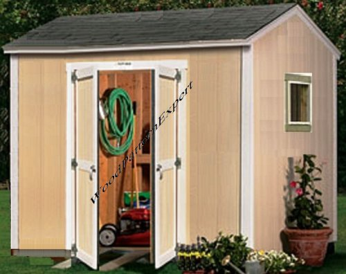 SHED 10 X 8 Paper Plans SO EASY BEGINNERS LOOK LIKE EXPERTS Build Your Own UTILITY STORAGE GABLE BUILDING Using This Step By Step DIY Patterns by WoodPatternExpert