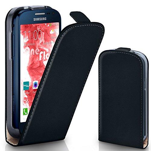 MoEx® Funda abatible + Cierre magnético Compatible con Samsung Galaxy Express 2 | Piel sintética, Noir