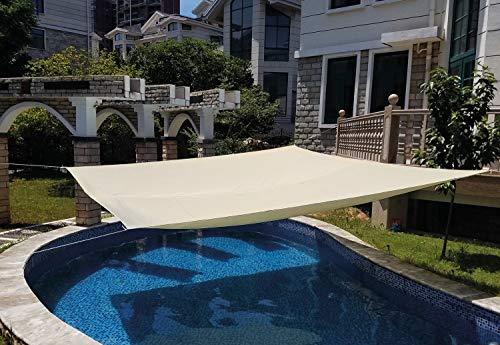 SmartSun Toldo Vela de jardín Anti-UV Repelente al Agua 3x2m Crudo
