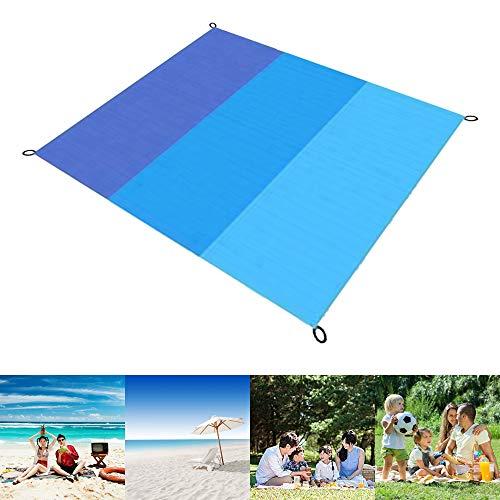 ConBlom - Manta de picnic para playa, 200 x 145 cm, alfombra de picnic portátil, manta de playa, manta de picnic con 4 estacas, para playa, senderismo, camping (200 x 210 cm)