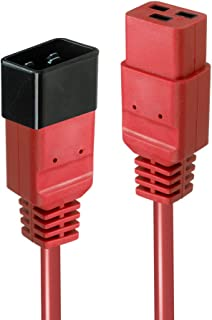 LINDY 2m IEC C19 to C20 Extension Cable, Red
