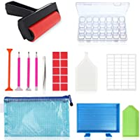 22-Piece Suptikes 5D Diamonds Painting Tools & Accessories Kits with Diamond Painting Roller & Diamond Embroidery Box