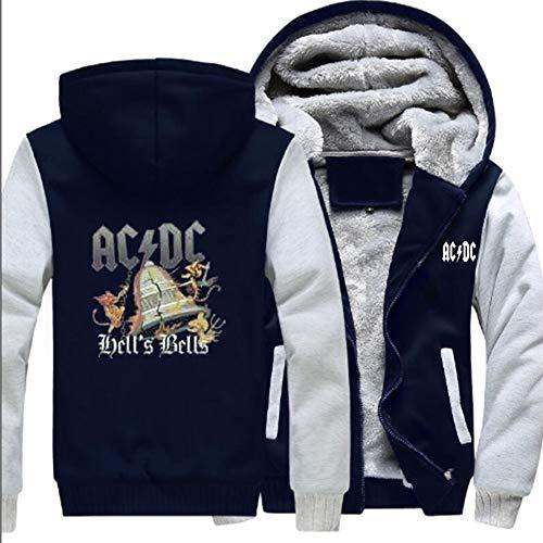 Veste de Sport Rock à Capuche et Bande ACDC imprimée en 3D, Veste de Jeunesse épaisse Chaude et Velours, vêtements d'extérieur à Manches Longues à glissière, Cardigan décontracté Unisexe