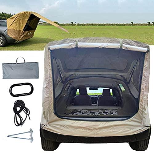BrightFootBook SUV - Tienda Avance para Furgonetas de Camping, Carpa De Maletero para Coche, Autoconducción, Camping, Parasol Y Resistente a La Lluvia, Tienda De Campaña De Viaje,Gold-M
