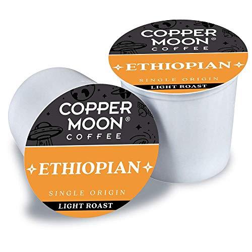 Copper Moon Ethiopian Origin, Light Roast Coffee Pods Compatible with Keurig K-Cup Brewers, 12 Count