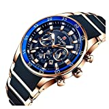 JIADUOBAO Moda impermeable marca mens relojes lujo cuarzo reloj silicona acero hombres cronógrafo deporte reloj