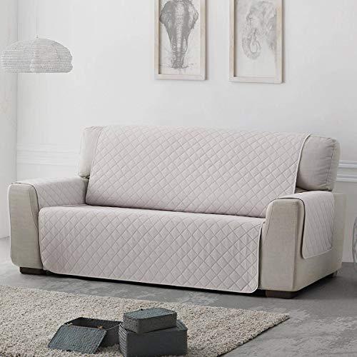 Belmarti Funda sofá Acolchado Sweet - Práctica - 3 plazas - Color Marfil