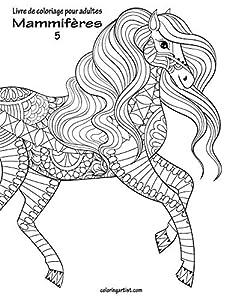 Livre de coloriage pour adultes Mammifères 5